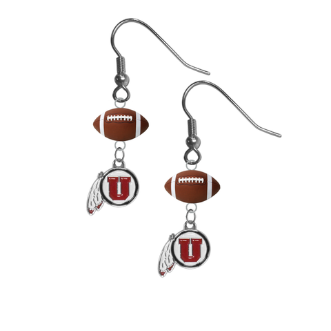 Utah Utes NCAA Football Dangle Earrings