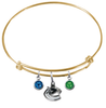 Vancouver Canucks Color Edition GOLD Expandable Wire Bangle Charm Bracelet