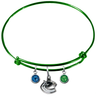 Vancouver Canucks Color Edition GREEN Expandable Wire Bangle Charm Bracelet