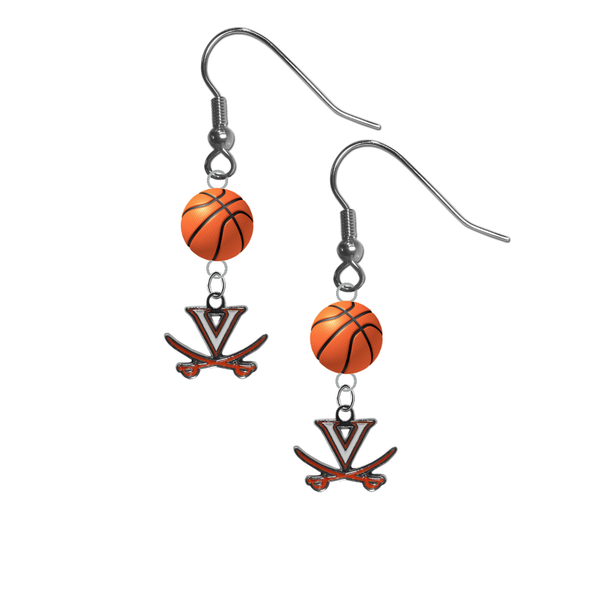 Virginia Cavaliers NCAA Basketball Dangle Earrings