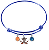 Virginia Cavaliers BLUE Color Edition Expandable Wire Bangle Charm Bracelet