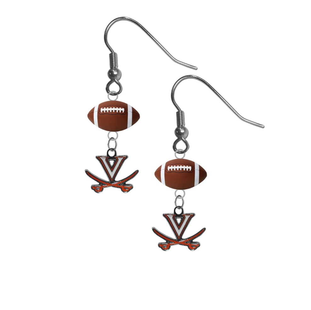 Virginia Cavaliers NCAA Football Dangle Earrings