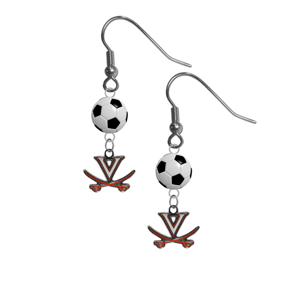 Virginia Cavaliers NCAA Soccer Dangle Earrings