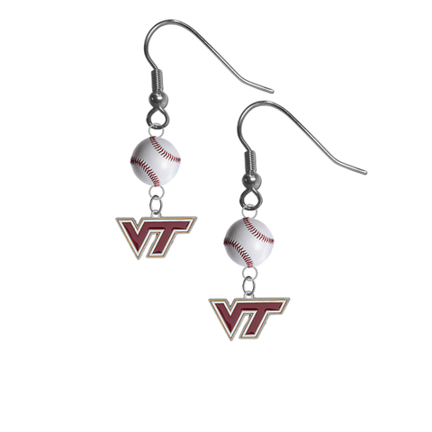 Virginia Tech Hokies NCAA Baseball Dangle Earrings