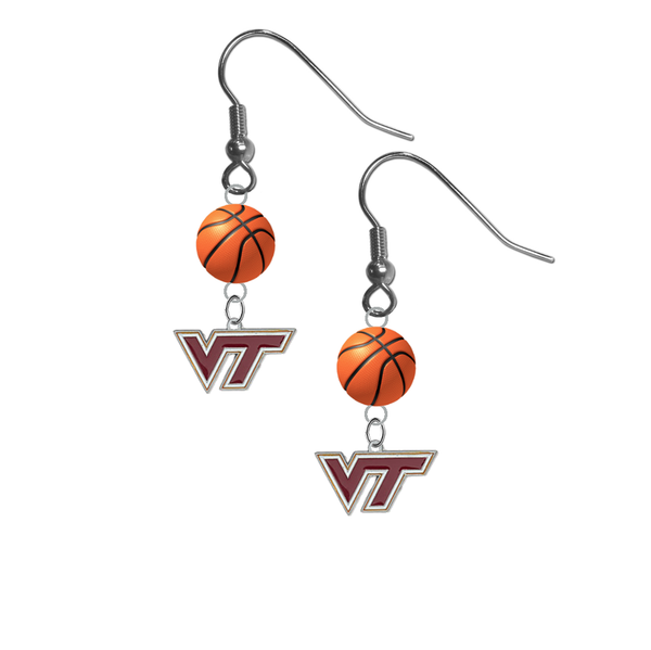 Virginia Tech Hokies NCAA Basketball Dangle Earrings
