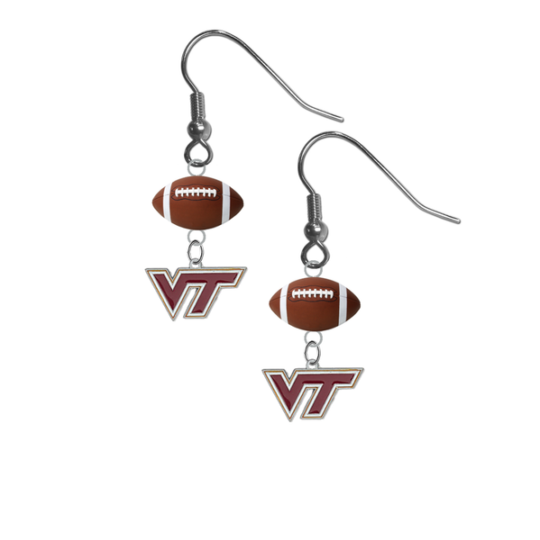Virginia Tech Hokies NCAA Football Dangle Earrings