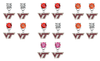 Virginia Tech Hokies NCAA Swarovski Crystal Stud Rhinestone Earrings