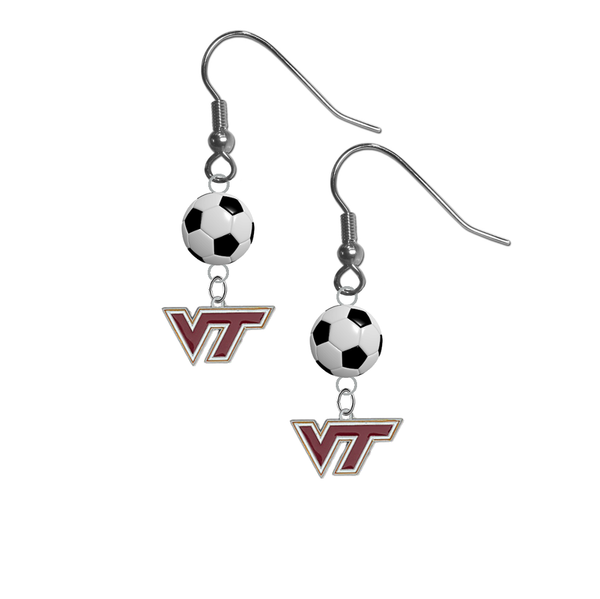 Virginia Tech Hokies NCAA Soccer Dangle Earrings