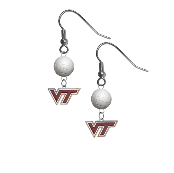 Virginia Tech Hokies NCAA Volleyball Dangle Earrings