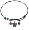 Washington Huskies BLACK Expandable Wire Bangle Charm Bracelet