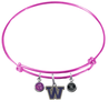 Washington Huskies PINK Expandable Wire Bangle Charm Bracelet