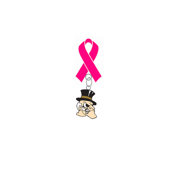 Wake Forest Demon Deacons Breast Cancer Awareness / Mothers Day Pink Ribbon Lapel Pin