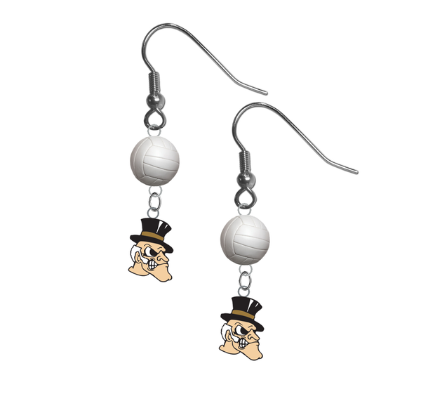 Wake Forest Demon Deacons NCAA Volleyball Dangle Earrings