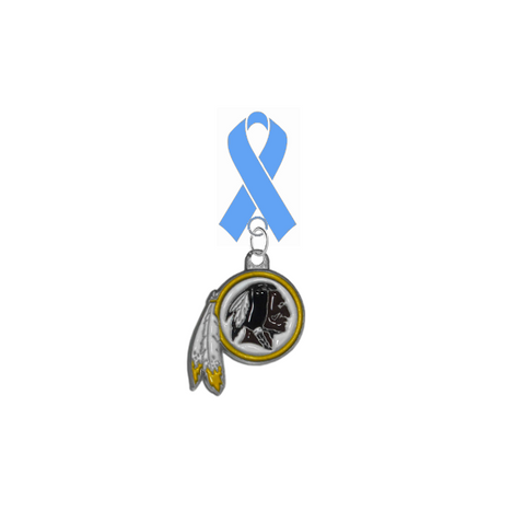 Washington Redskins NFL Prostate Cancer Awareness / Fathers Day Light Blue Ribbon Lapel Pin