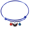 Washington Capitals Color Edition BLUE Expandable Wire Bangle Charm Bracelet