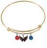 Washington Capitals Color Edition GOLD Expandable Wire Bangle Charm Bracelet