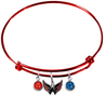 Washington Capitals Color Edition RED Expandable Wire Bangle Charm Bracelet
