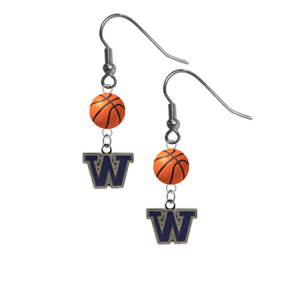 Washington Huskies NCAA Basketball Dangle Earrings