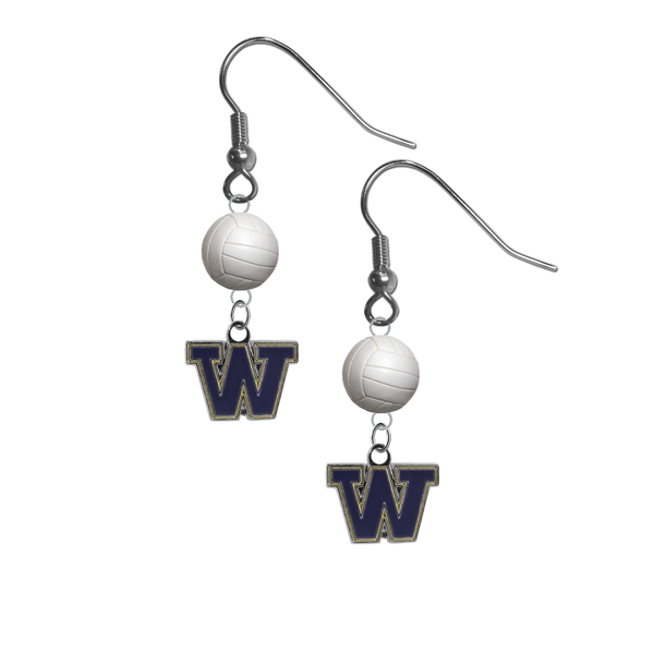 Washington Huskies NCAA Volleyball Dangle Earrings
