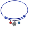 Washington Nationals Blue MLB Expandable Wire Bangle Charm Bracelet