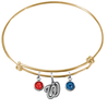 Washington Nationals Gold MLB Expandable Wire Bangle Charm Bracelet