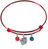 Washington Nationals Red MLB Expandable Wire Bangle Charm Bracelet