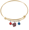 Washington Nationals Style 2 Gold MLB Expandable Wire Bangle Charm Bracelet