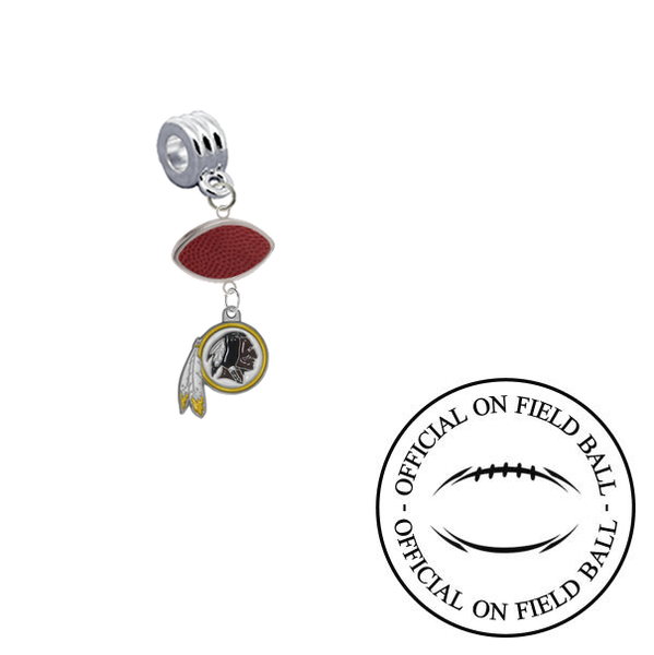 Washington Redskins On Field Football Universal European Bracelet Charm (Pandora Compatible)