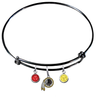 Washington Redskins Black NFL Expandable Wire Bangle Charm Bracelet
