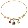 Washington Redskins Gold NFL Expandable Wire Bangle Charm Bracelet