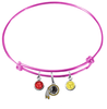 Washington Redskins Pink NFL Expandable Wire Bangle Charm Bracelet