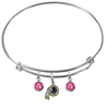 Washington Redskins NFL Expandable Wire Bangle Charm Bracelet