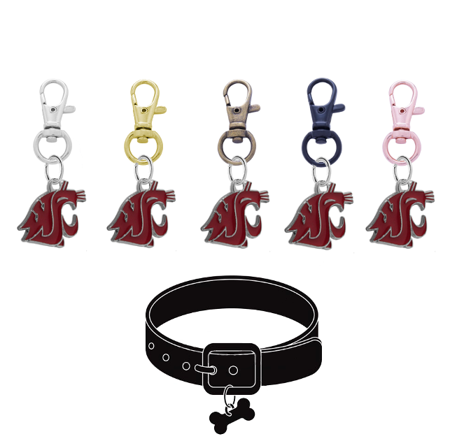 Washington State Cougars NCAA Pet Tag Dog Cat Collar Charm