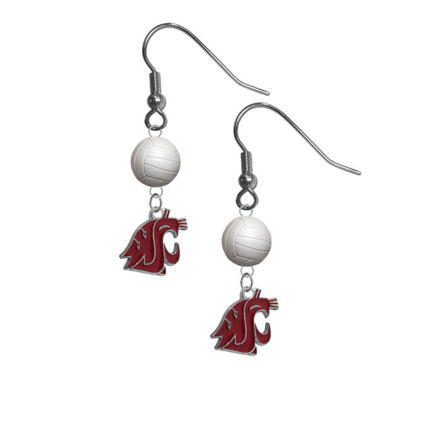 Washington State Cougars NCAA Volleyball Dangle Earrings