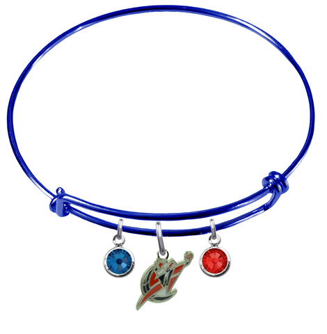 Washington Wizards BLUE Color Edition Expandable Wire Bangle Charm Bracelet