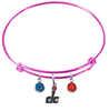 Washington Wizards DC Logo PINK Color Edition Expandable Wire Bangle Charm Bracelet