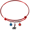 Washington Wizards DC Logo RED NBA Edition Expandable Wire Bangle Charm Bracelet