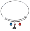 Washington Wizards DC Logo NBA Expandable Wire Bangle Charm Bracelet