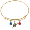 Washington Wizards GOLD Color Edition Expandable Wire Bangle Charm Bracelet