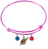 Washington Wizards PINK Color Edition Expandable Wire Bangle Charm Bracelet