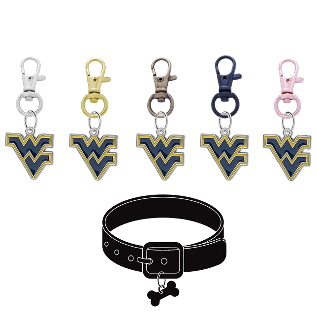 West Virginia Mountaineers NCAA Pet Tag Dog Cat Collar Charm