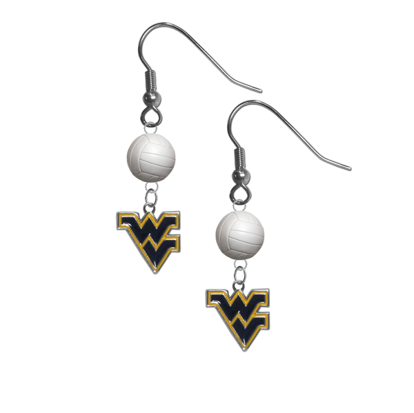 West Virginia Mountaineers NCAA Volleyball Dangle Earrings