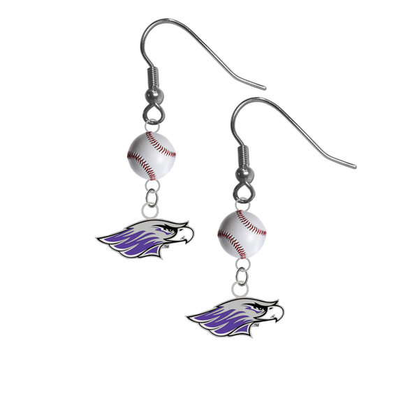 Wisconsin Whitewater Warhawks NCAA Baseball Dangle Earrings