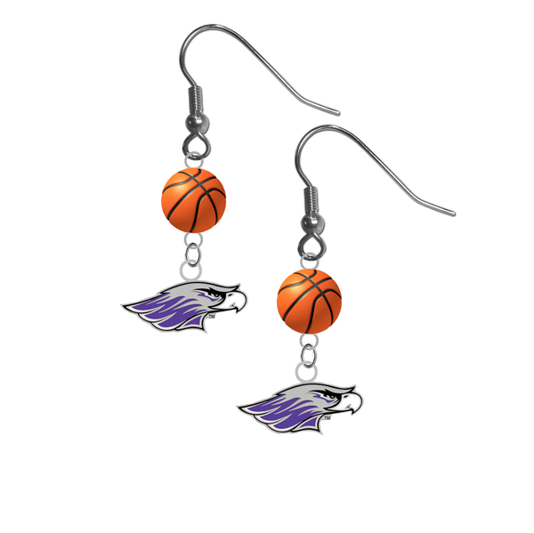 Wisconsin Whitewater Warhawks NCAA Basketball Dangle Earrings