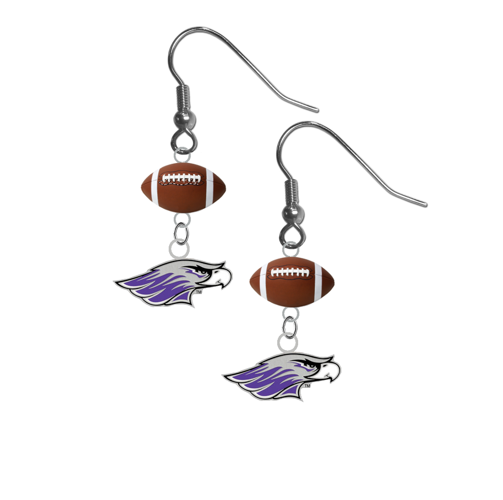 Wisconsin Whitewater Warhawks NCAA Football Dangle Earrings