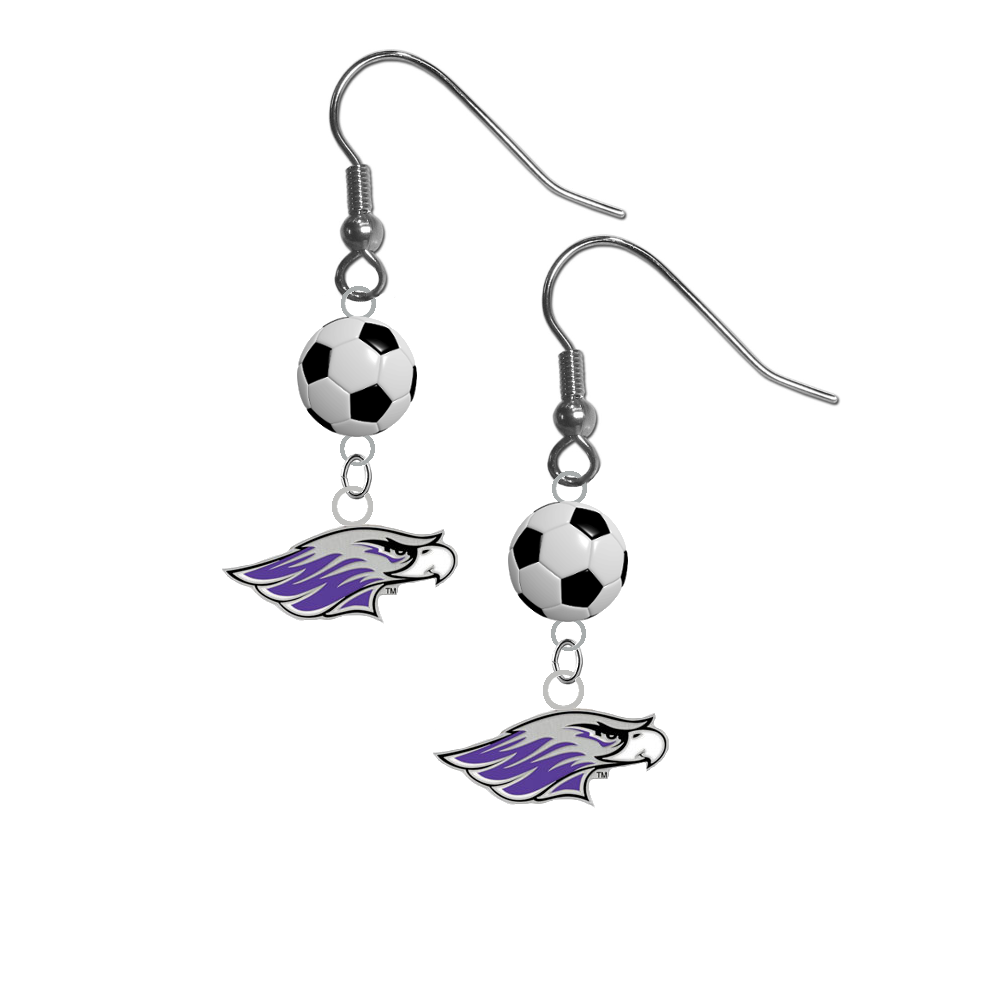 Wisconsin Whitewater Warhawks NCAA Soccer Dangle Earrings