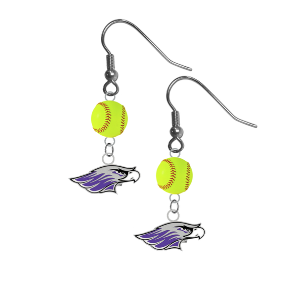 Wisconsin Whitewater Warhawks NCAA Fastpitch Softball Dangle Earrings
