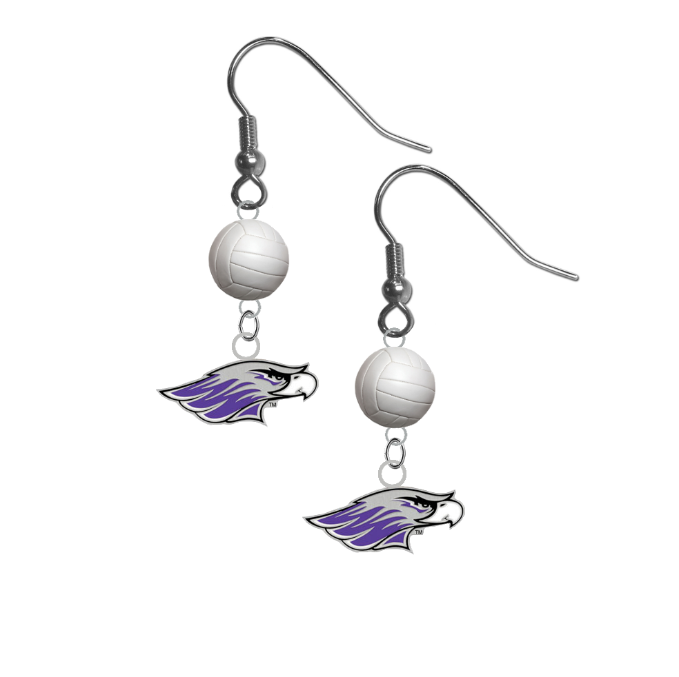 Wisconsin Whitewater Warhawks NCAA Volleyball Dangle Earrings