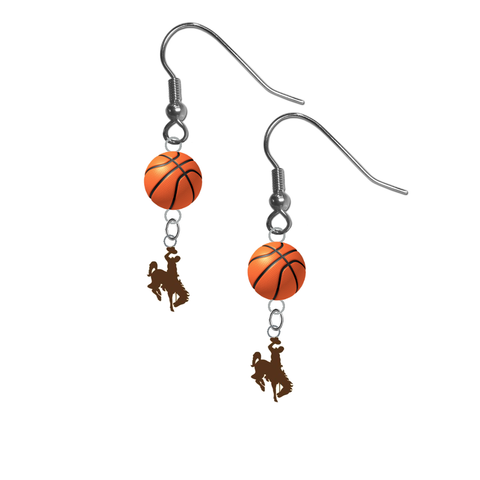 Wyoming Cowboys NCAA Basketball Dangle Earrings