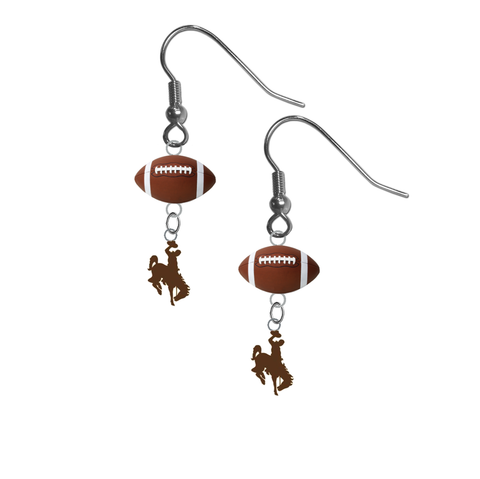 Wyoming Cowboys NCAA Football Dangle Earrings